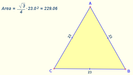 Area of Equilateral Triangle Formula