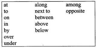 English Workbook Class 9 Solutions Unit 8 Prepositions Q8.2