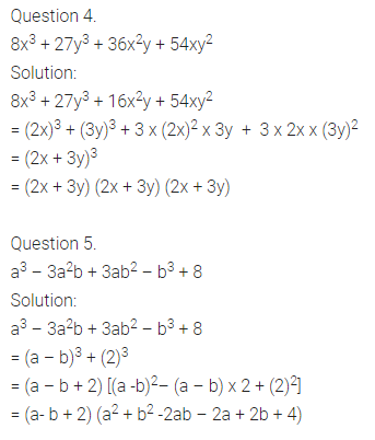 RD Sharma Class 9 Solutions Chapter 5 Factorisation of Algebraic Expressions