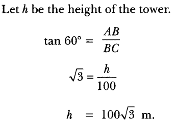 Applications of Trigonometry Height and Distance Class 10 Q 5