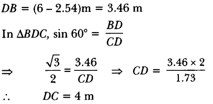 Applications of Trigonometry Height and Distance Class 10 Q 6