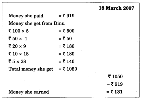 NCERT Solutions for Class 4 Mathematics Unit-6 The Junk Seller Page 68 Q1