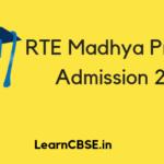 RTE MP Admission 2019