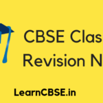 Revision Notes for Class 12