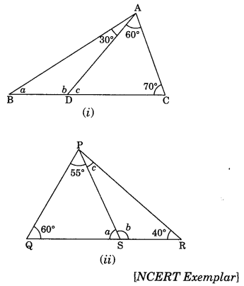 The Triangles and its Properties Class 7 Extra Questions Maths Chapter 6