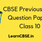 CBSE Previous Year Question Papers Class 10