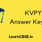 KVPY Answer Key 2019