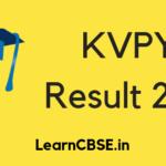 KVPY Result 2019