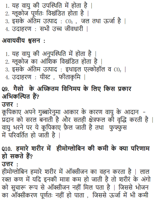 NCERT Solutions for Class 10 Science Chapter 6 Life Processes Hindi Medium 14