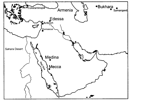 NCERT Solutions for Class 11 History Chapter 3 An Empire Across Three Continents Map Skills Q2