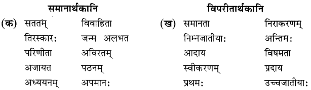 NCERT Solutions for Class 8 Sanskrit Chapter 11 सावित्री बाई फुले Q2