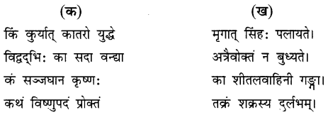 NCERT Solutions for Class 8 Sanskrit Chapter 15 प्रहेलिकाः Q2.1
