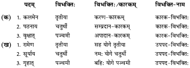 NCERT Solutions for Class 8 Sanskrit Chapter 7 कारक विभक्तिः तथा उपपद विभक्तिः