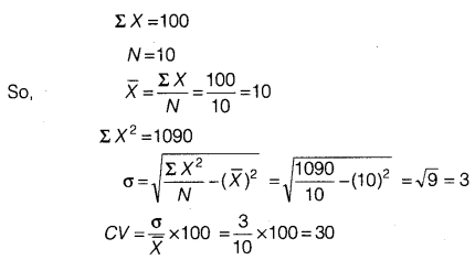 Statistics for Economics Class 11 NCERT Solutions Chapter 6 Measures of Dispersion Q12