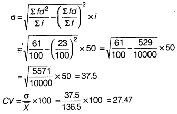 Statistics for Economics Class 11 NCERT Solutions Chapter 6 Measures of Dispersion Q8.3
