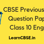 CBSE Previous Year Question Papers Class 10 English