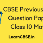 CBSE Previous Year Question Papers Class 10 Maths