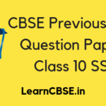 CBSE Previous Year Question Papers Class 10 Social Science