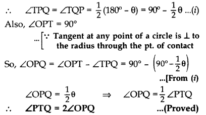 Important Questions for Class 10 Maths Chapter 10 Circles 62