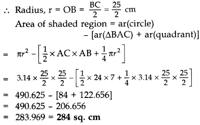 Important Questions for Class 10 Maths Chapter 12 Areas Related to Circles 40
