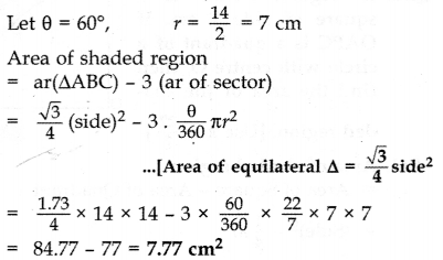 Important Questions for Class 10 Maths Chapter 12 Areas Related to Circles 62