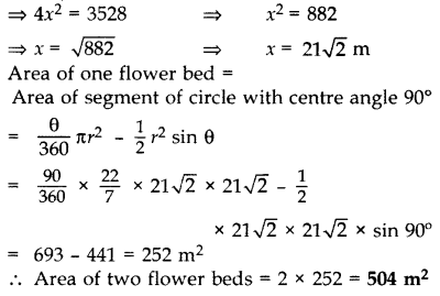 Important Questions for Class 10 Maths Chapter 12 Areas Related to Circles 76