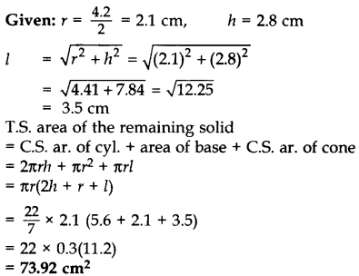 Important Questions for Class 10 Maths Chapter 13 Surface Areas and Volumes 60