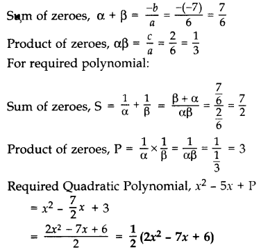 Important Questions for Class 10 Maths Chapter 2 Polynomials 15