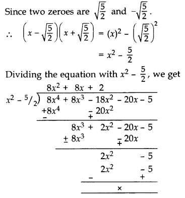 Important Questions for Class 10 Maths Chapter 2 Polynomials 21