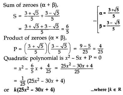 Important Questions for Class 10 Maths Chapter 2 Polynomials 4