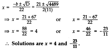 Important Questions for Class 10 Maths Chapter 4 Quadratic Equations 29