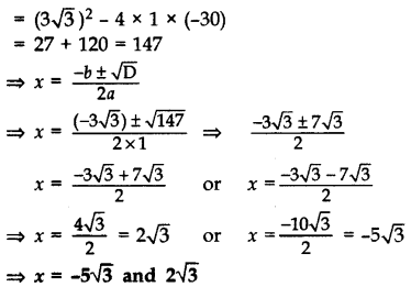 Important Questions for Class 10 Maths Chapter 4 Quadratic Equations 51