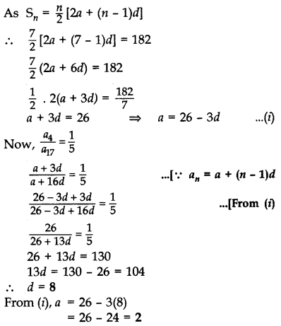 Important Questions for Class 10 Maths Chapter 5 Arithmetic Progressions 13