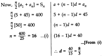 Important Questions for Class 10 Maths Chapter 5 Arithmetic Progressions 3