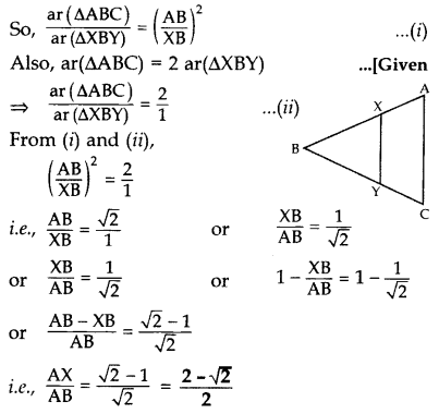 Important Questions for Class 10 Maths Chapter 6 Triangles 50