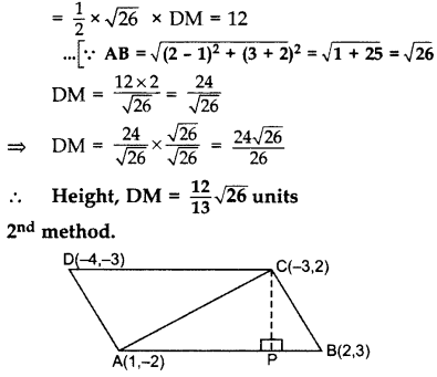 Important Questions for Class 10 Maths Chapter 7 Coordinate Geometry 54
