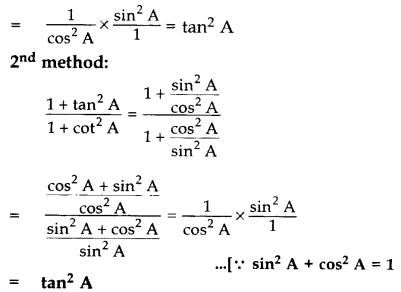 Important Questions for Class 10 Maths Chapter 8 Introduction to Trigonometry 11