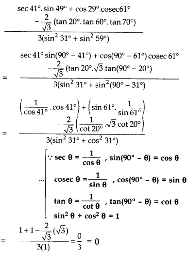 Important Questions for Class 10 Maths Chapter 8 Introduction to Trigonometry 15