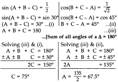 Important Questions for Class 10 Maths Chapter 8 Introduction to Trigonometry 36