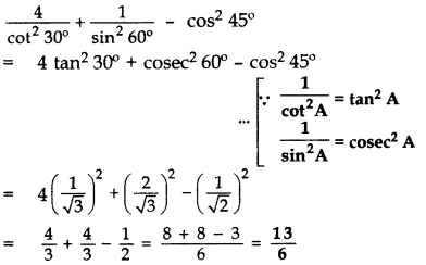 Important Questions for Class 10 Maths Chapter 8 Introduction to Trigonometry 38