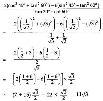 Important Questions for Class 10 Maths Chapter 8 Introduction to Trigonometry 40