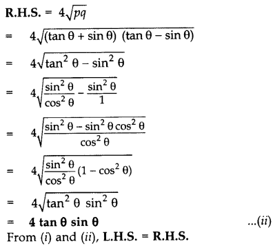 Important Questions for Class 10 Maths Chapter 8 Introduction to Trigonometry 56