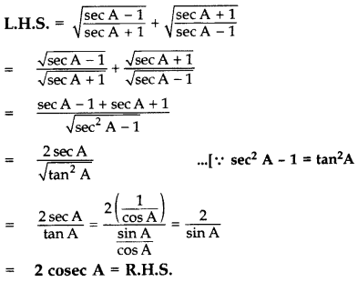 Important Questions for Class 10 Maths Chapter 8 Introduction to Trigonometry 59