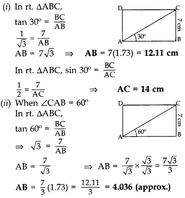 Important Questions for Class 10 Maths Chapter 8 Introduction to Trigonometry 72
