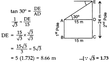 Important Questions for Class 10 Maths Chapter 9 Some Applications of Trigonometry 11
