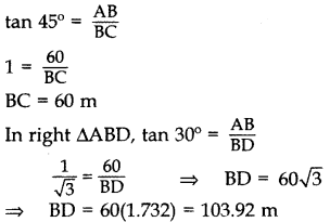 Important Questions for Class 10 Maths Chapter 9 Some Applications of Trigonometry 13
