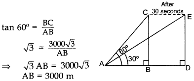 Important Questions for Class 10 Maths Chapter 9 Some Applications of Trigonometry 16