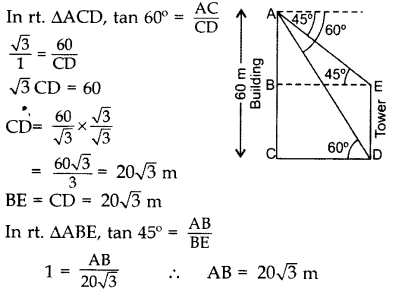 Important Questions for Class 10 Maths Chapter 9 Some Applications of Trigonometry 18