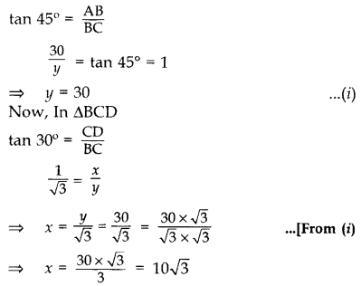 Important Questions for Class 10 Maths Chapter 9 Some Applications of Trigonometry 20