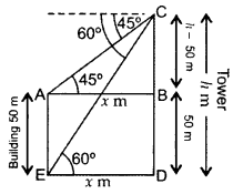 Important Questions for Class 10 Maths Chapter 9 Some Applications of Trigonometry 22